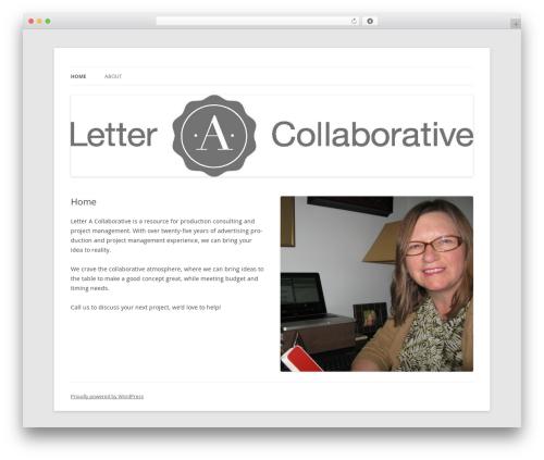 Twenty Twelve top WordPress theme - letteracollaborative.com