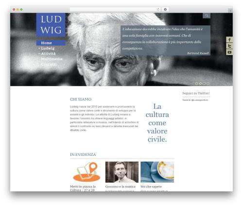 Adept style WordPress website template - ludwigcultura.it