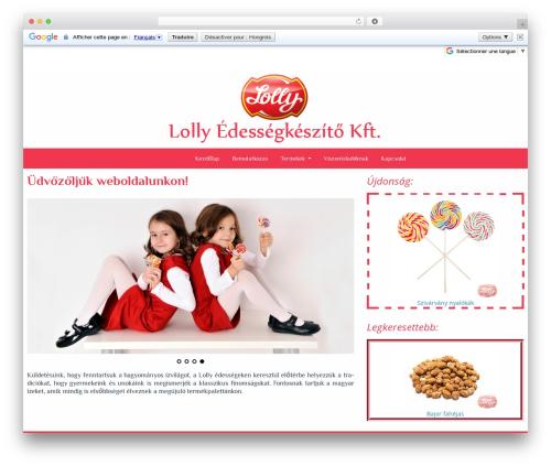 Almasi template WordPress - lolly.hu