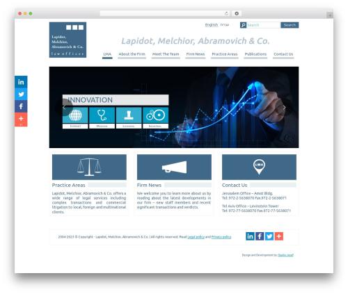 Best WordPress theme LMA - lma-law.com