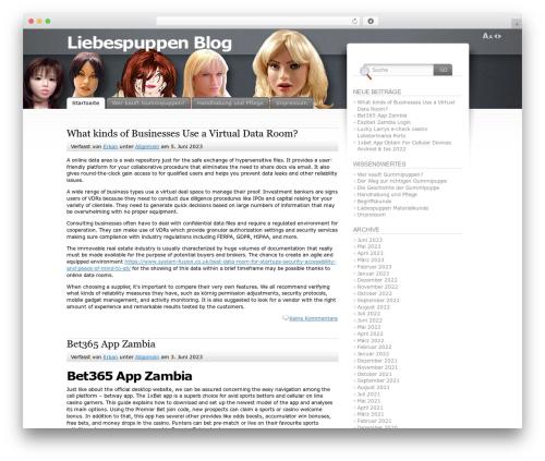 Fusion WordPress theme design - liebespuppen.org