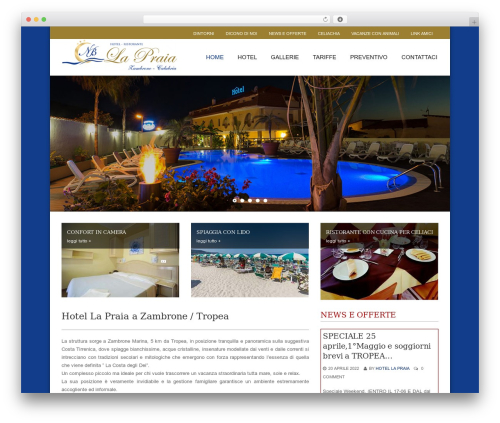 Hotec best hotel WordPress theme - lapraia.it
