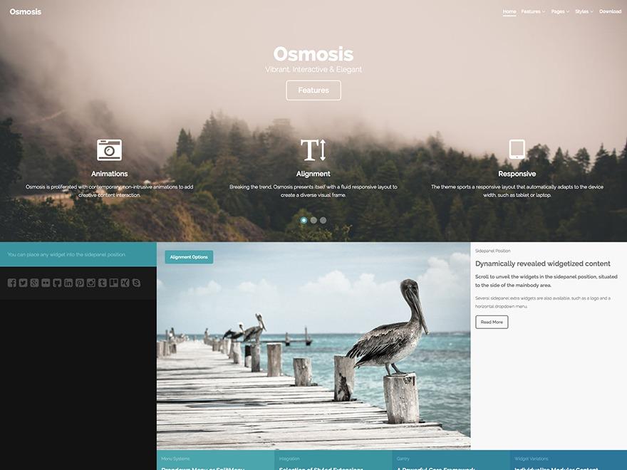 Osmosis-child WordPress theme