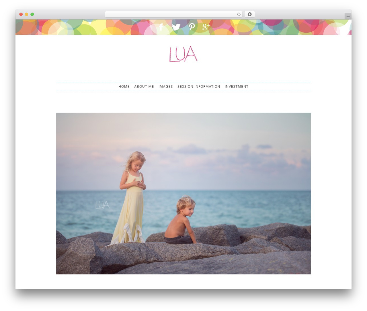 ProPhoto best WordPress theme - luaphotography.com