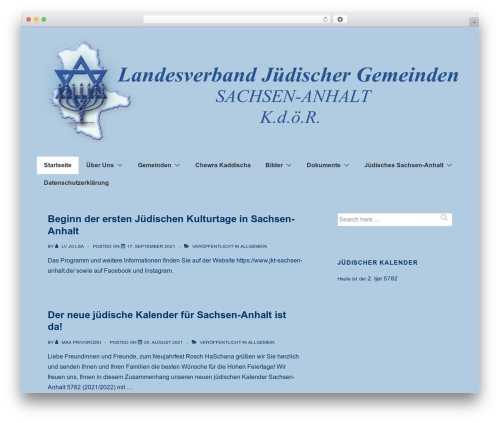 Responsive free WordPress theme - lv-sachsen-anhalt.de