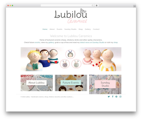 Salient WordPress website template - lubilou.com