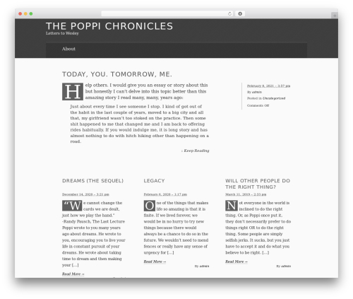 Template WordPress The Erudite - letterstowesley.com
