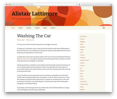 Twenty Thirteen free WP theme - lattimore.id.au
