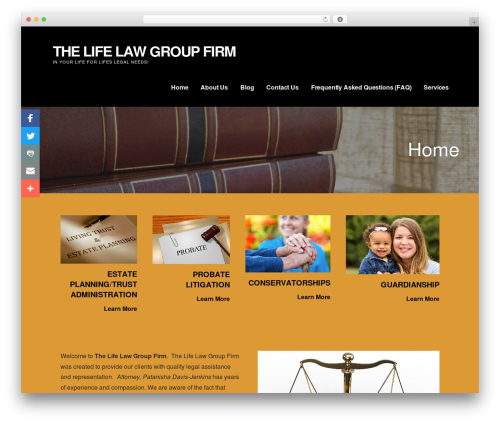 Ascension WordPress theme - lifelawgroup.com