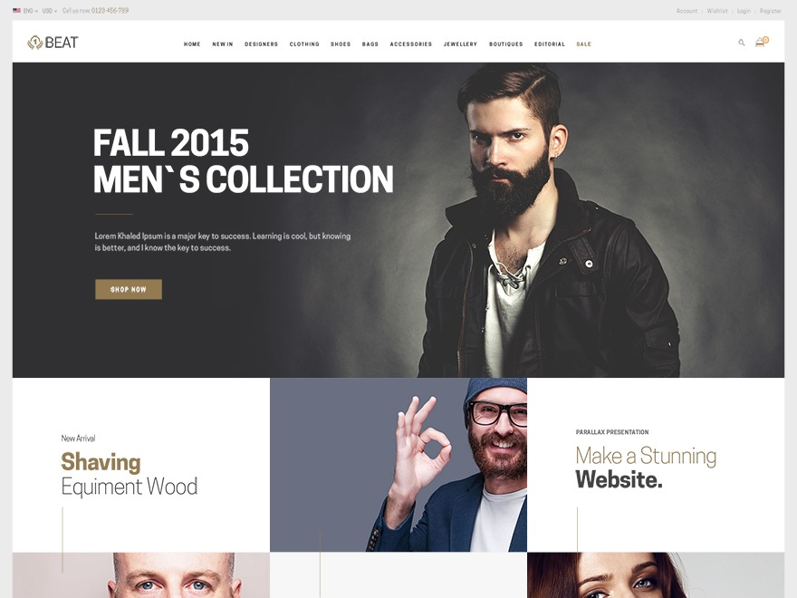 beatshop WordPress shopping theme