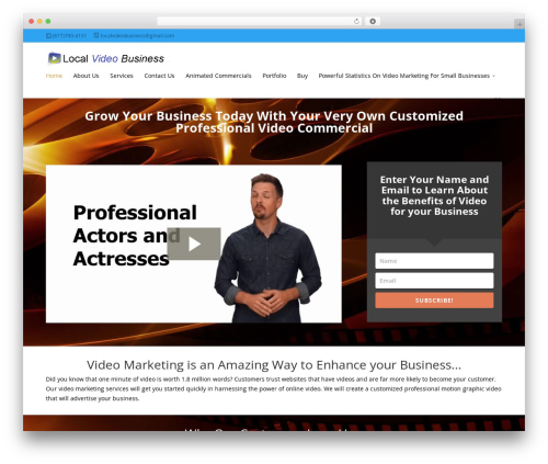 WordPress gallery-video plugin - localvideobusiness.com