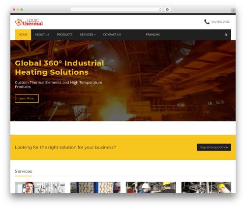 Industry WordPress theme - logicthermal.com