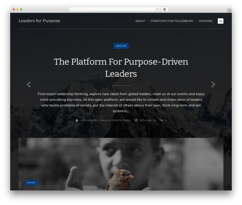 Koala top WordPress theme - leadersforpurpose.com