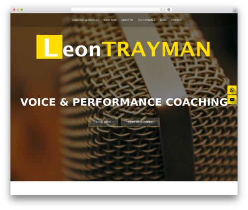 ResponsiveBoat WordPress theme - leontrayman.co.uk