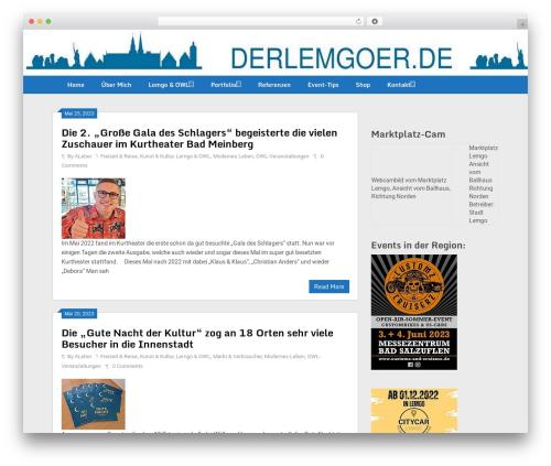 Ribbon Lite best free WordPress theme - lippe-news-journal.com