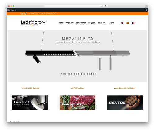 The Retailer best WordPress theme - ledsfactory.es