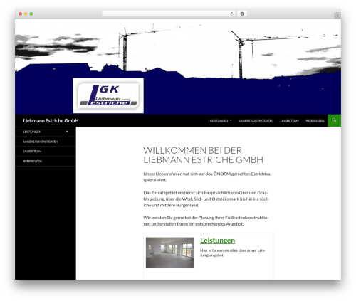 Theme WordPress Twenty Fourteen - liebmann-estriche.at