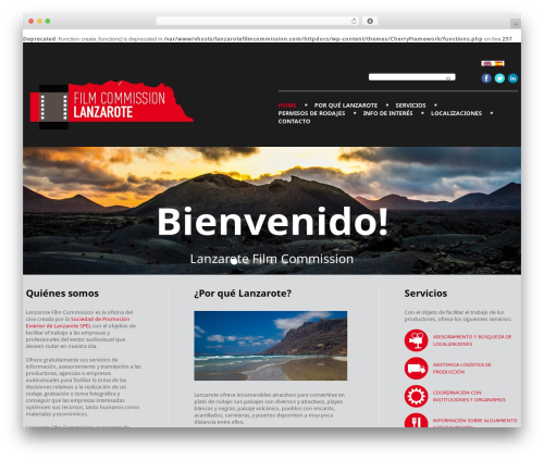 cherry best WordPress theme - lanzarotefilmcommission.com