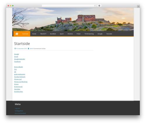 Effect best free WordPress theme - lundkaas.dk