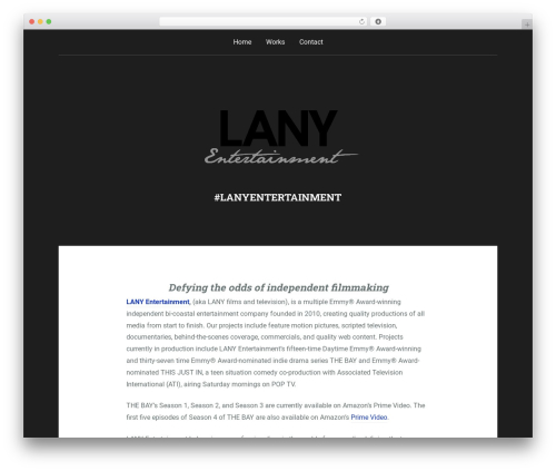 Padhang WordPress template - lanyentertainment.com