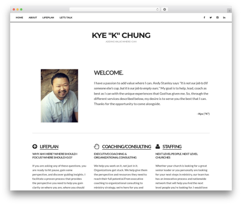 paperbag WordPress page template - kyeschung.com