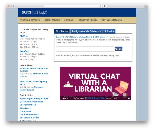 WordPress theme Fresh And Clean - library.uscb.edu