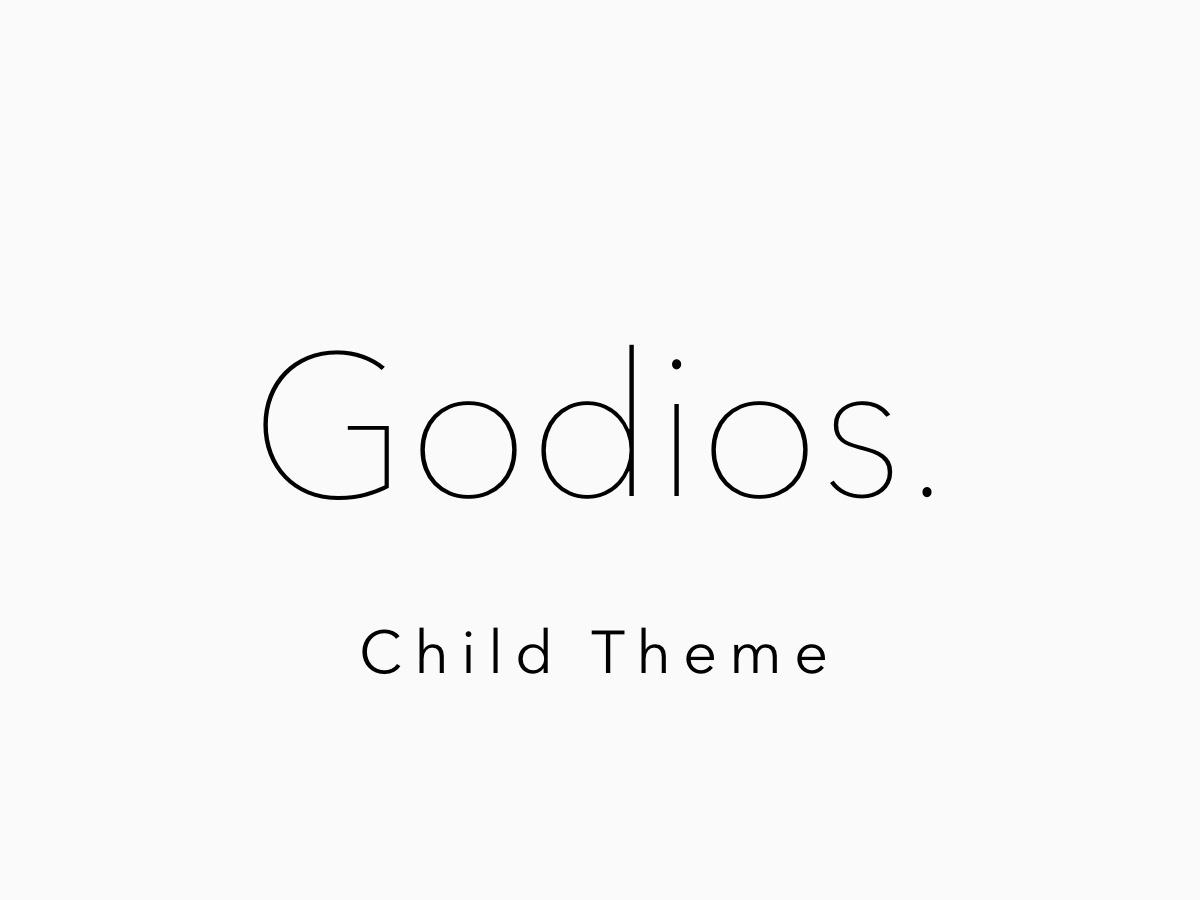 WP theme Godios. Child Theme