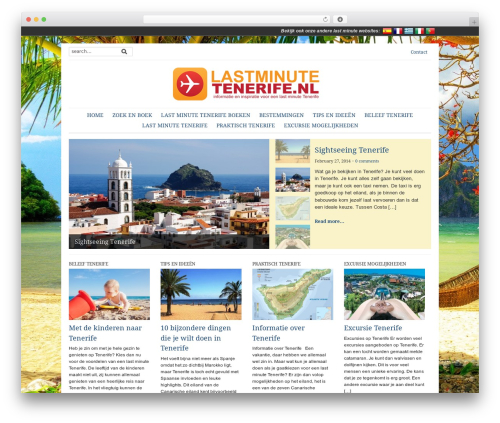 Yamidoo Magazine newspaper WordPress theme - lastminutetenerife.nl