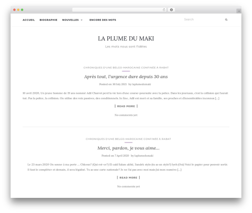Activello free WordPress theme - laplumedumaki.com
