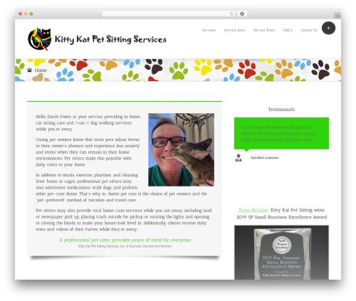 Avada theme WordPress - kittykatpetsitting.com
