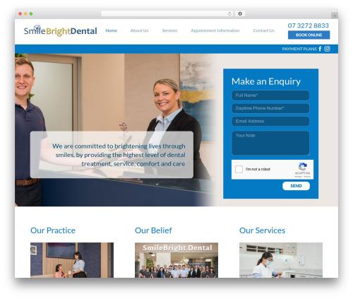 Avada WordPress template - smilebrightdental.com.au