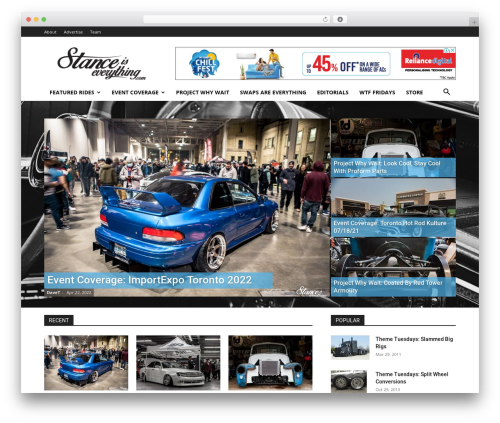 Best WordPress template Newspaper - stanceiseverything.com
