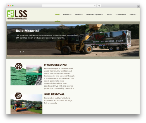 cherry landscaping WordPress theme - landscapesupportservices.com