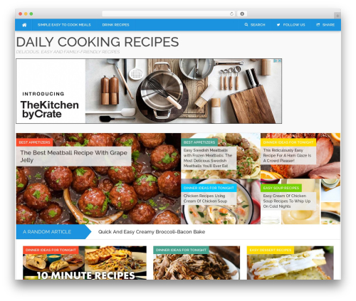 Codilight WordPress page template - lovecookingdaily.com