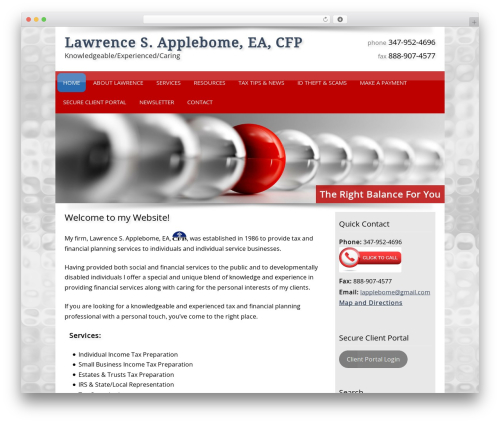 Customized WordPress template for business - lawrenceapplebome.com