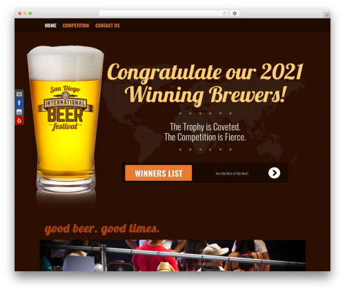 Fest WordPress theme design - sandiegobeerfestival.com