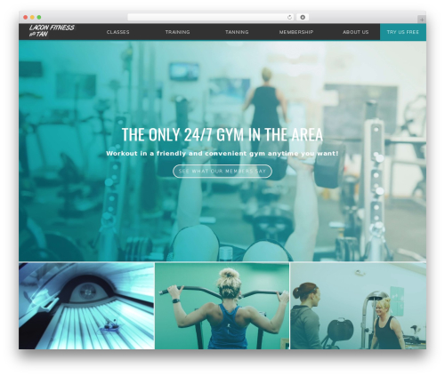 FITNESS-WP fitness WordPress theme - laconfitnessandtan.com