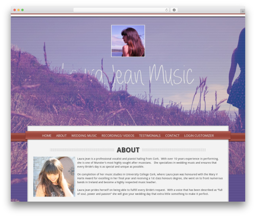 Impress WordPress theme design - laurajeanmelody.com