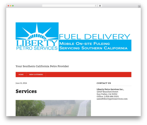 Modern Business free website theme - libertypetroservices.com