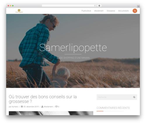 Smallblog WordPress shopping theme - samerlipopette.fr