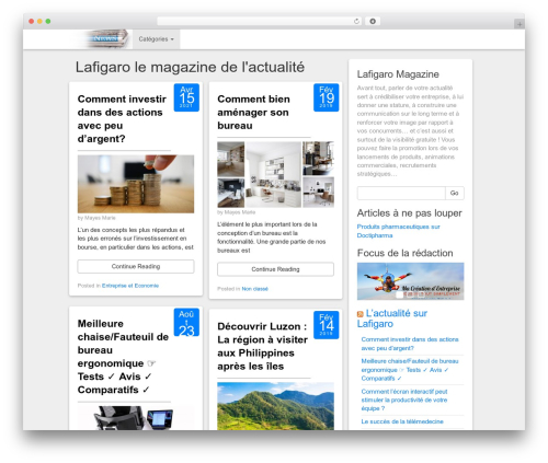 Social Magazine WordPress theme - lafigaro.fr
