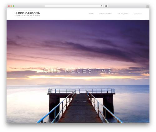Visia WordPress theme - llopiscardona.com