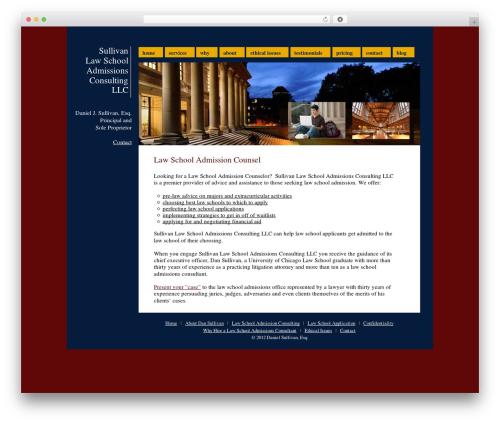 WordPress website template Sullivan - lawschooladmissionsconsulting.com