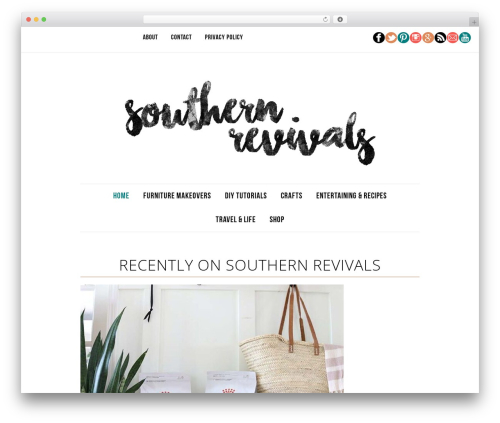 Best WordPress theme Divine Theme - southernrevivals.com