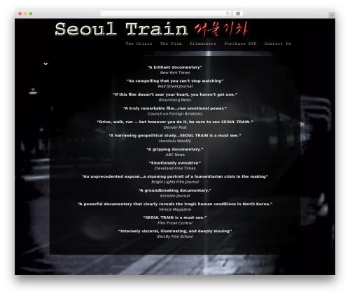 Black Label WordPress page template - seoultrain.com