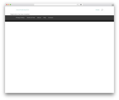 Divi WP theme - socialprofitmachine.com/wp-signup.php?new=directoryofnaturalhealth.com