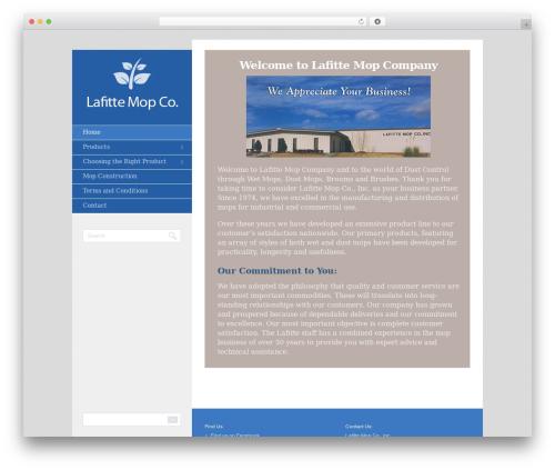 Foundation company WordPress theme - lafittemop.com