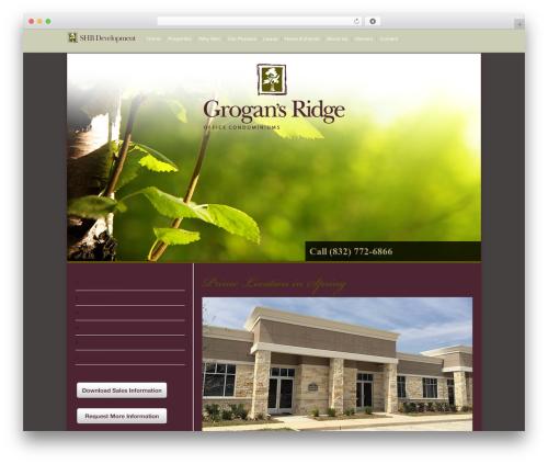 Modernize WordPress theme design - shbdevelopment.com/properties/grogans-ridge