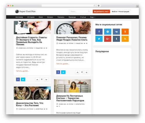 Theme WordPress Katla by Bluthemes - supercoolpics.com