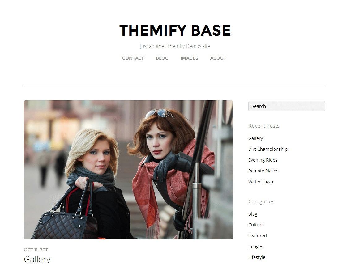 Themify Base WordPress theme design
